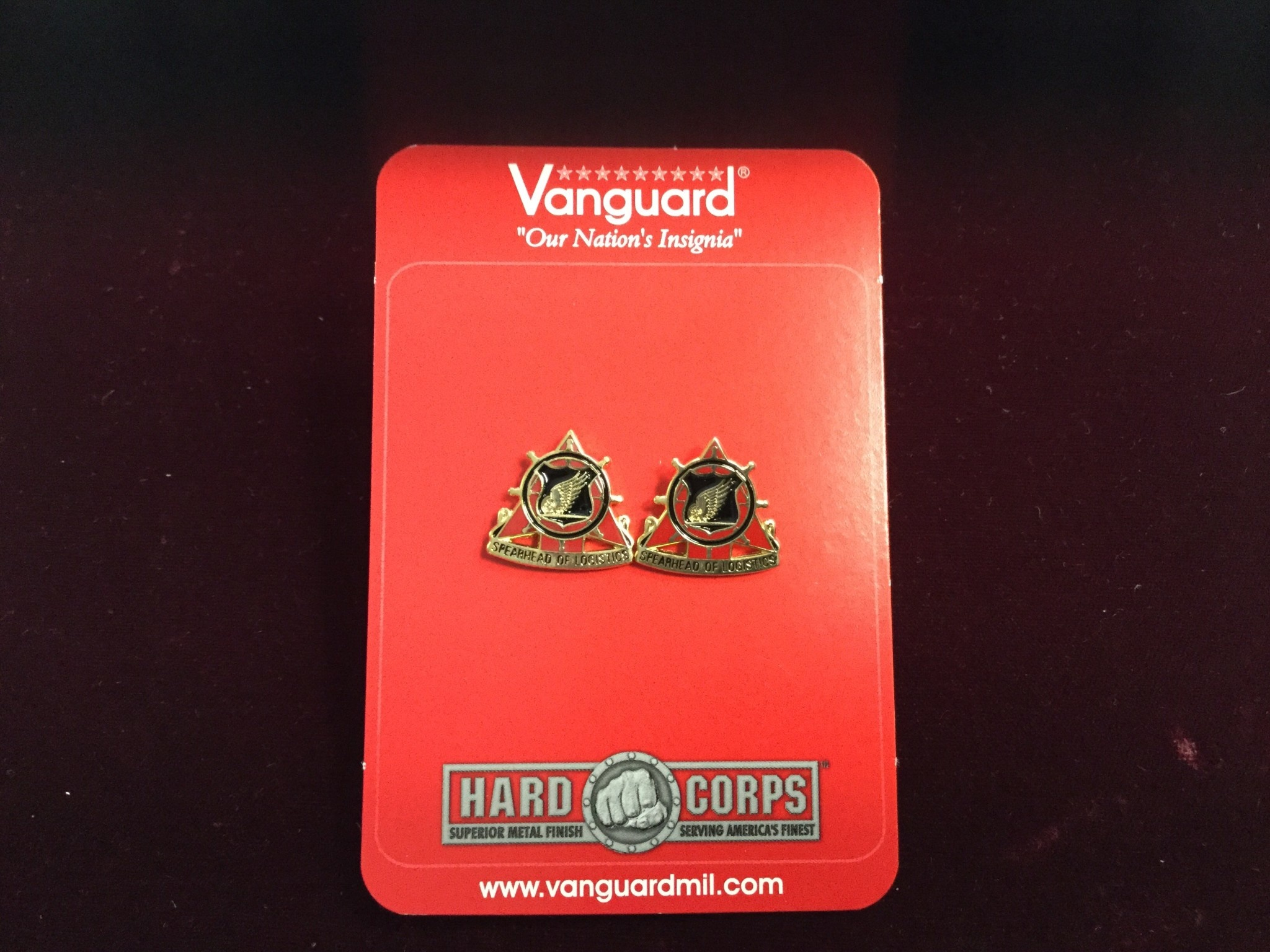 VANGUARD INDUSTRIES EAST, INC. CUFF LINKS, REGT
