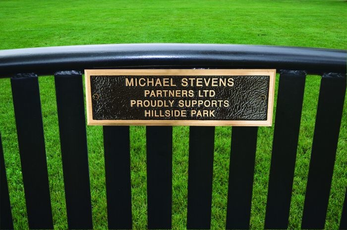 MEMORIALIZED PARK BENCH, DOUBLE (6')
