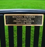 MEMORIALIZED PARK BENCH, HALF