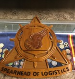 SPEARHEAD OF LOG. HAND MADE PLAQUE