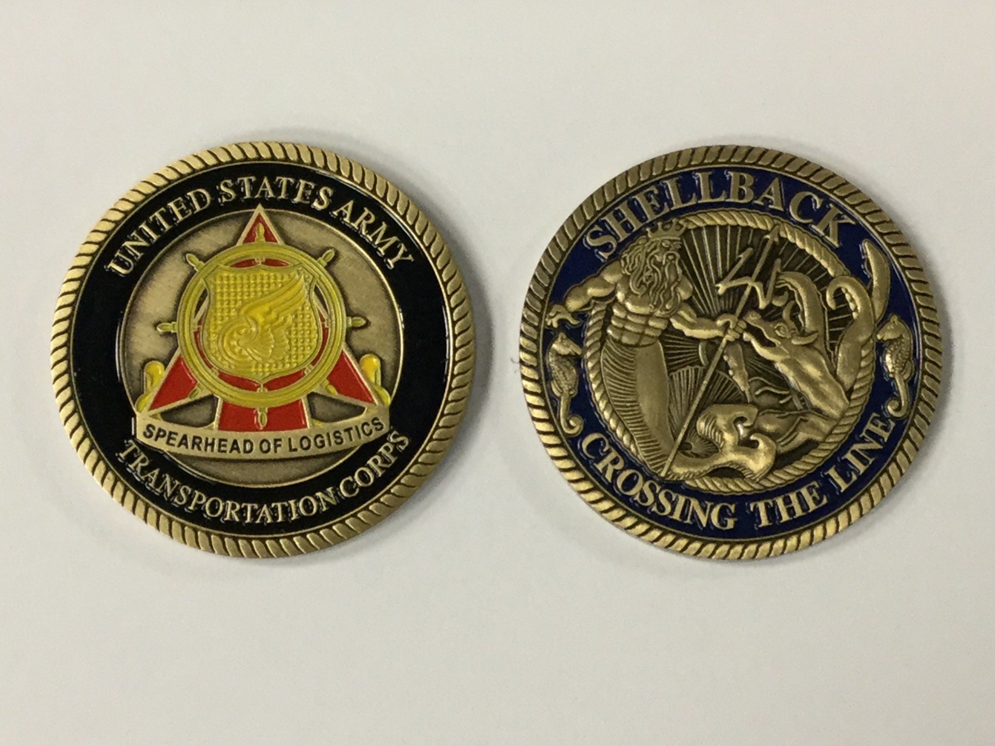 EAGLE CREST, INC. SHELLBACK/CROSSING THE LINE COIN