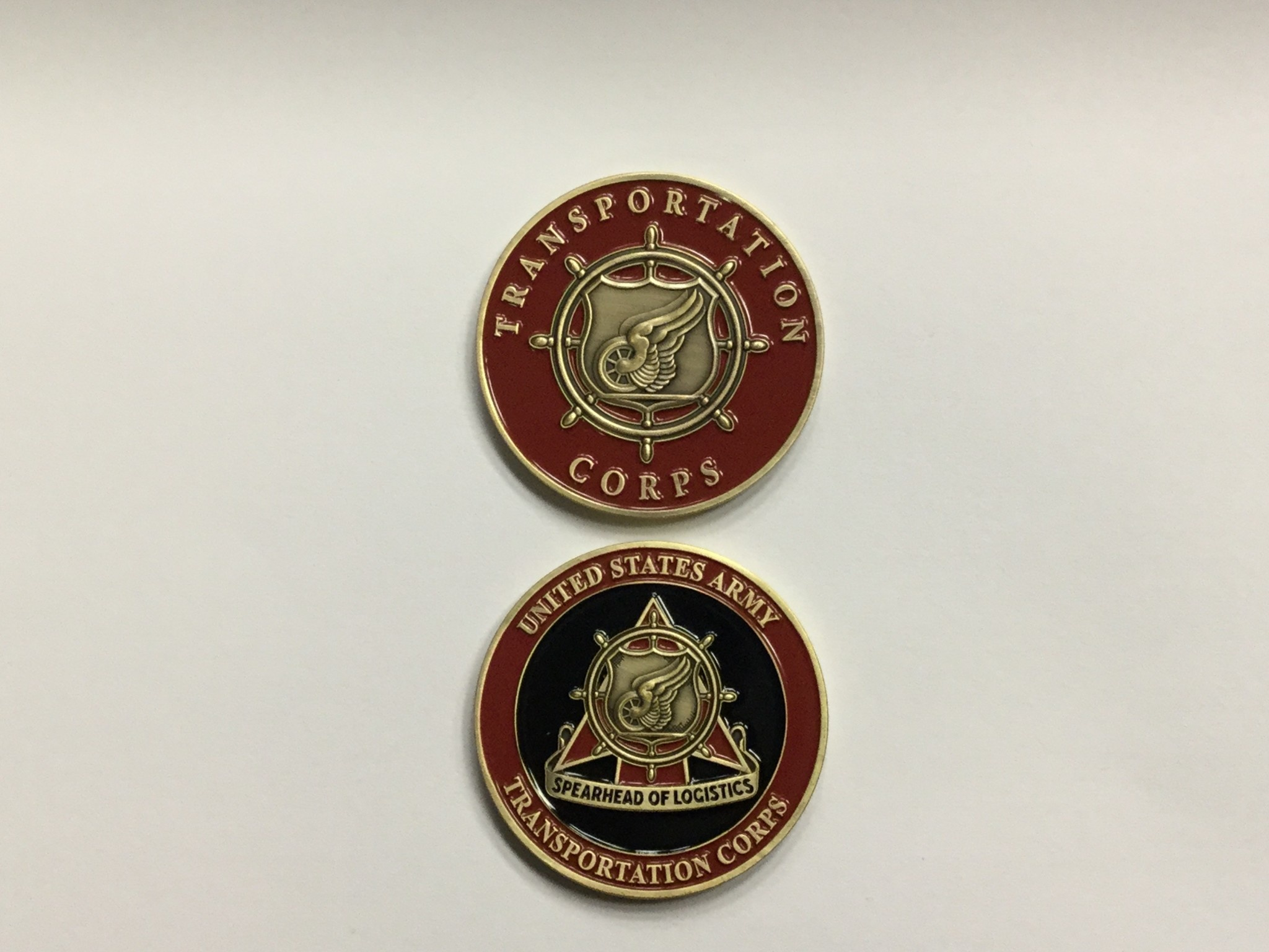 CHALLENGE COIN COMPANY SPEARHEAD/TRANSPORTATION CORPS