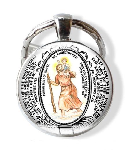 SAINT CHRISTOPHER KEYCHAIN