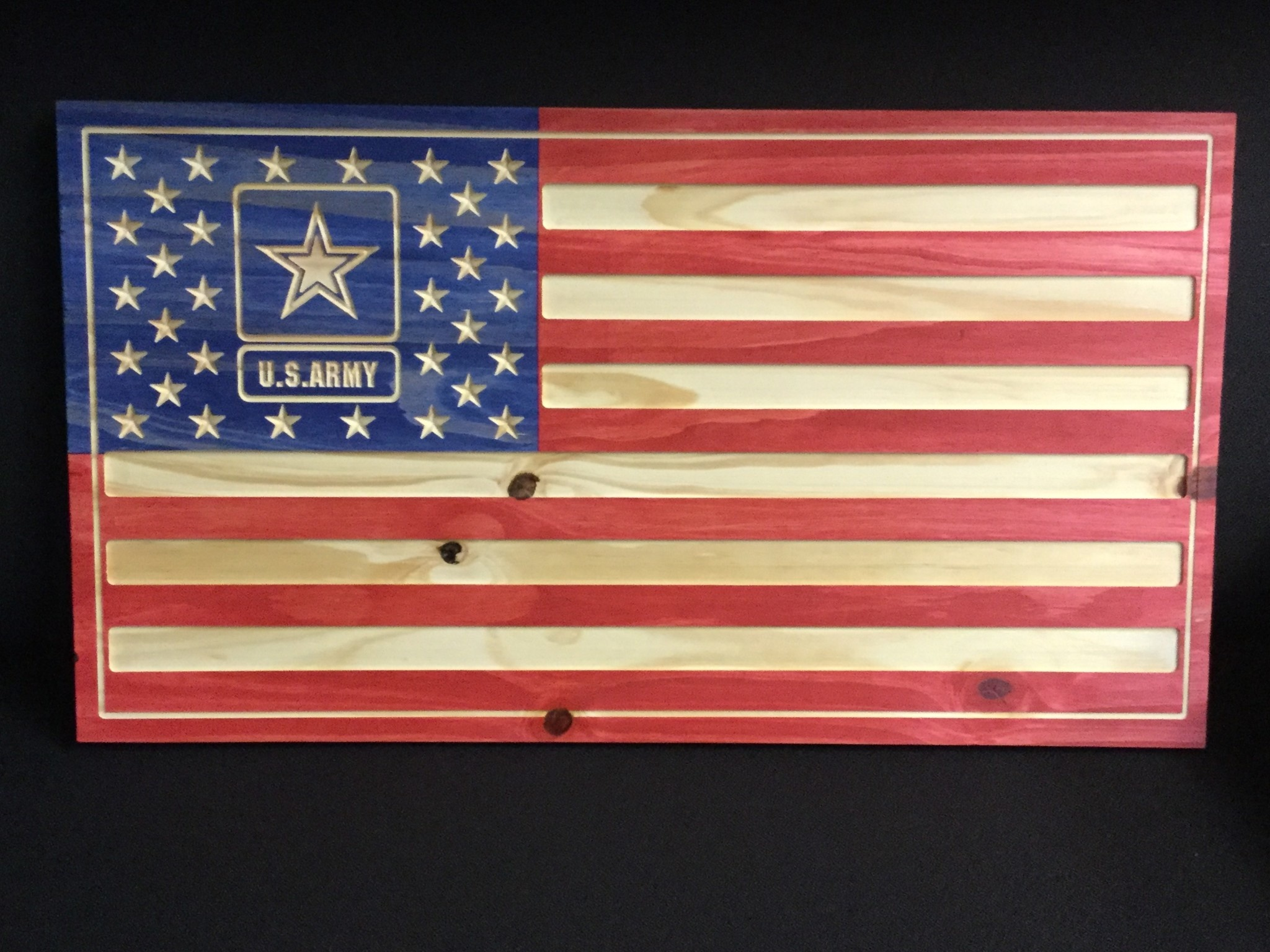 US FLAG w/ARMY STAR -RED,WHITE&BLUE