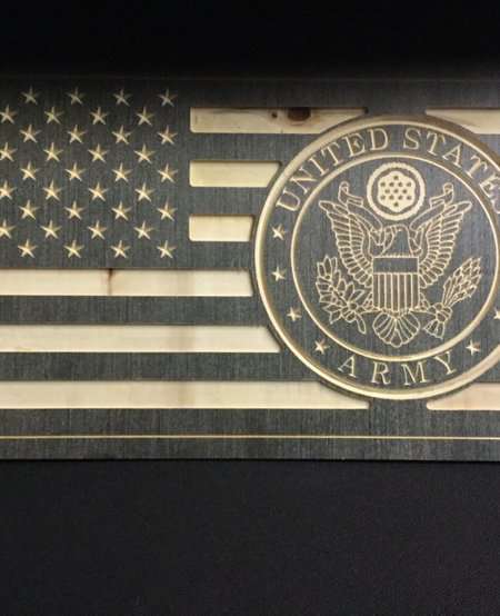 US FLAG W/ARMY SEAL