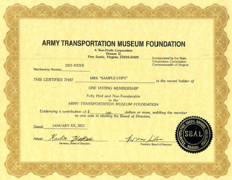 Foundation Lifetime Membership Package