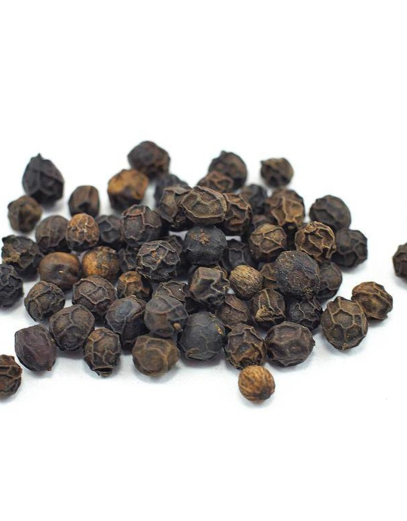 Black Peppercorns, Organic, bulk/oz