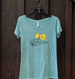 Green Women's Golden Poppy Shirt