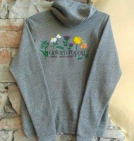 Medicinal Flowers Zip Up Hoodie