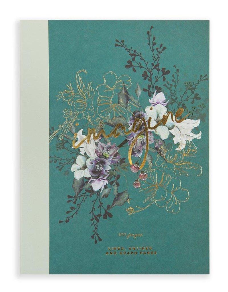 Papaya Clothbound Notebook - Imagine