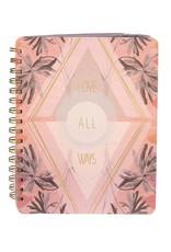 Papaya Spiral Notebook - Solar Bloom