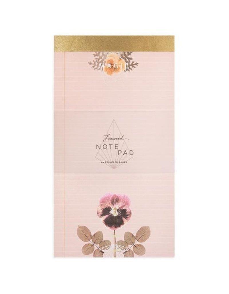 Papaya Notepad - Magic Pansy