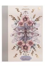 Papaya Clothbound Notebook - Dragonfly