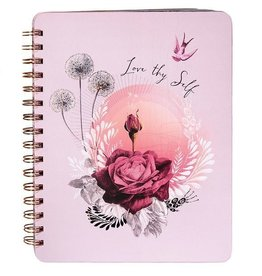 Papaya Spiral Notebook - Lavender Rose