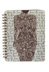Papaya Spiral Notebook - Living Woman