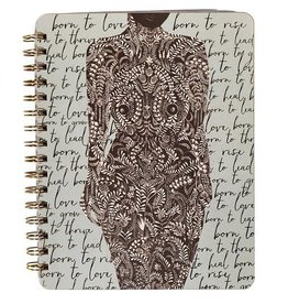 Papaya Spiral Notebook - Living Woman