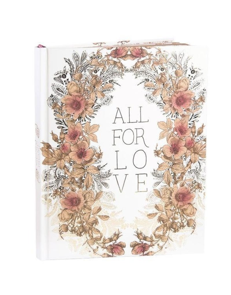 Papaya Hardcover Journal - All for love