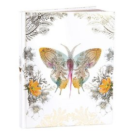 Papaya Hardcover Journal - Paisley Butterfly
