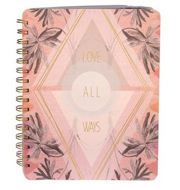 Papaya Spiral Notebook - Love All Ways