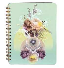 Papaya Spiral Notebook - Universe