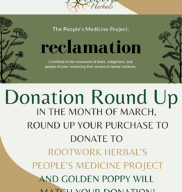 Donation Round up - March 2021 Rootwork Herbals People's Medicine Project