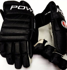 POWERTEK HOCKEY POWERTEK V1.0 TEK ICE HOCKEY GLOVES ALL BLACK 8
