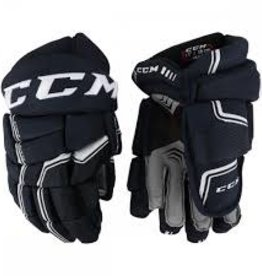 CCM Hockey CCM QUICK LITE Gloves Youth 08 BLACK/WHITE