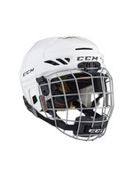 CCM Hockey CCM TACK FL 3DS JR HELMET COMBO WHITE