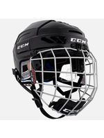 CCM Hockey CCM TACK FL 3DS JR HELMET COMBO BLACK