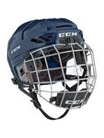 CCM Hockey CCM TACK FL 3DS JR HELMET COMBO NAVY