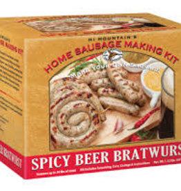 Hi Mountain Hi Mountain 453 Spicy Beer BRATWURST SAUSAGE KIT