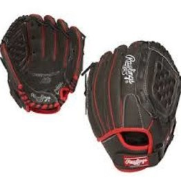 RAWLINGS RAWLING JR PRO LITE BLK/RED/WHT BALL GLOVE 10 1/2 INCH