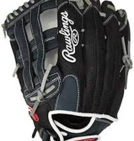 RAWLINGS RAWLING RENEGADE SERIES BLK/GREY RT BALL GLOVE 15 INCH