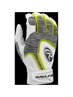 RAWLINGS RAWLINGS 5150 WHT/GREY/YELLOW BATTING GLOVE YOUTH MED