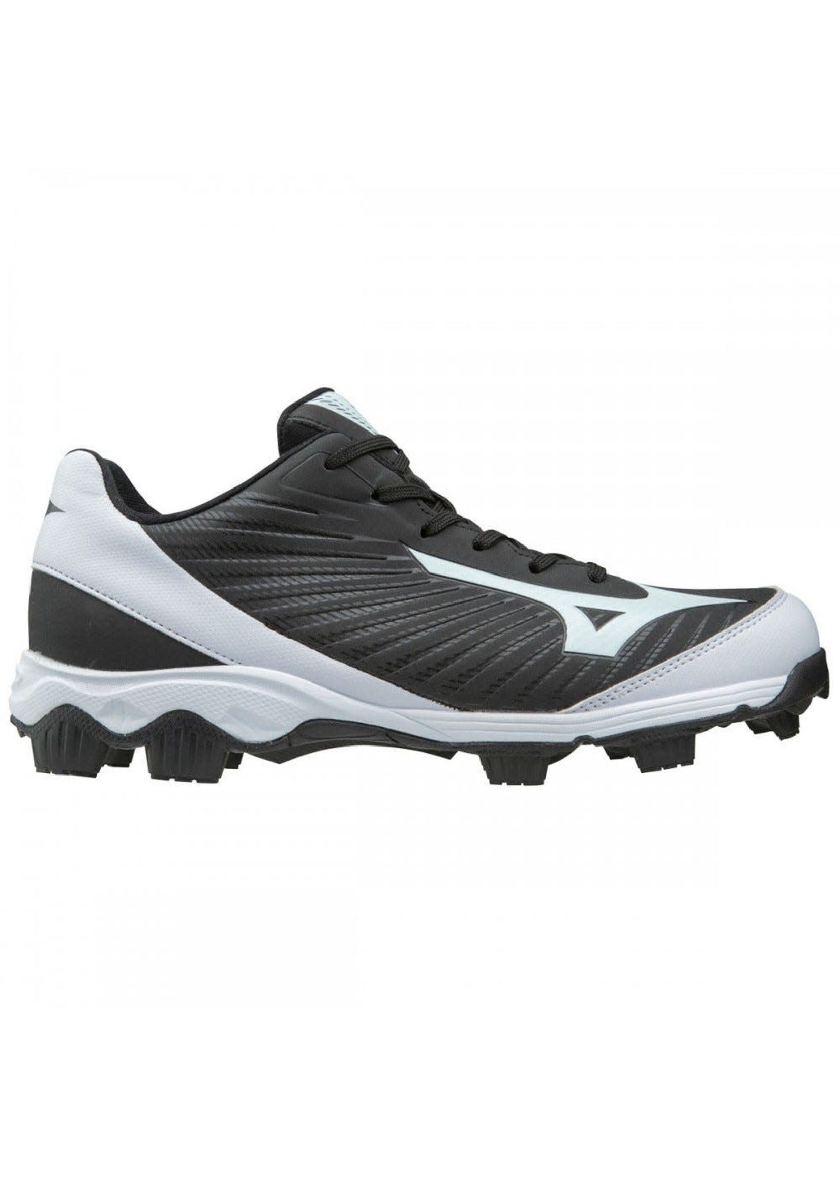 MIZUNO 9-SPIKE ADV YTH FRANCHISE 9 MD BLACK/WHITE 4.5  YOUTH
