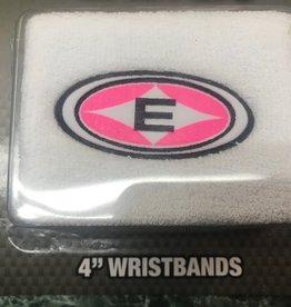 """EASTON EASTON 4"""" WRISTBANDS WHT/PINK"""