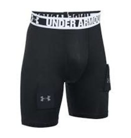UNDER ARMOUR Boys' UA Hockey Grippy Fitted Baselayer Shorts W/ Cup YOUTH SM