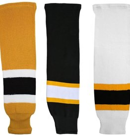 CCM Hockey HOCKEY SOCK BOSTON HOME CHILD AWAY YELLOW/BLK/WHT