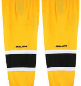 BAUER HOCKEY SOCKS WHITE YOUTH 900 SERIES S-M YELLOW/BLK/WHT