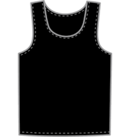 KOBE SPORTSWEAR KOBE PRACTICE VEST PINNIES -  NAVY OR BLACK YTH XL