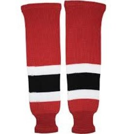 "TPS TPS 32"" AWAY RED/GREY/BLK/WHT ADULT HOCKEY SOCKS"