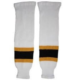 CCM Hockey CCM SOCK 100 -BOS WHITE -CHD 20""
