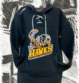 CCM Hockey HAWK CCM 7512 JRSY FLCE HOODY BLK v2 SR .12