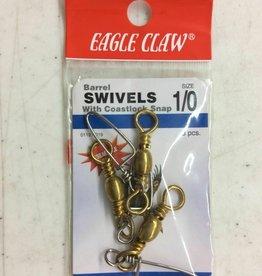 Eagle Claw EAGLE CLAW BARREL SWIVEL W COASTLOCK SNAP 01121-019 SIZE1/0