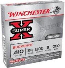 WINCHESTER WINCHESTER  BUCK SHOT .410 2 1/2 1300 3 PELLETS 000BUCK