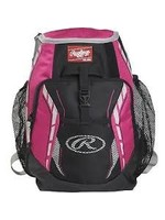 """RAWLINGS Rawlings R400 Youth Player's Backpack-Scarlet-16""""x12""""x8"""