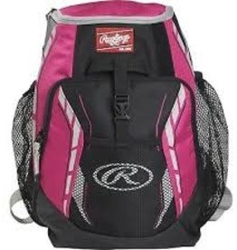 "RAWLING Rawlings R400 Youth Player's Backpack-Scarlet-16""x12""x8"