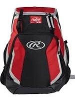 "RAWLINGS RAWLINGS R500 Player's Backpack 17.5""x15.5""x8"