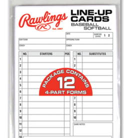 RAWLINGS RAWLINGS LINE UP CARDS