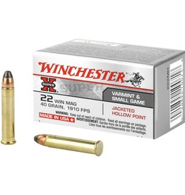 WINCHESTER WINCHESTER AMMO 22MAG 40GR JHP X22MH